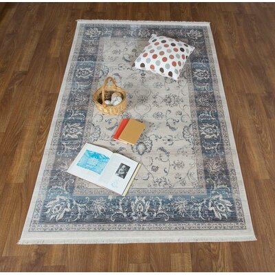 Brompton Bone/Light Gray Area Rug Rug Size: Rectangle 8 x 10 2