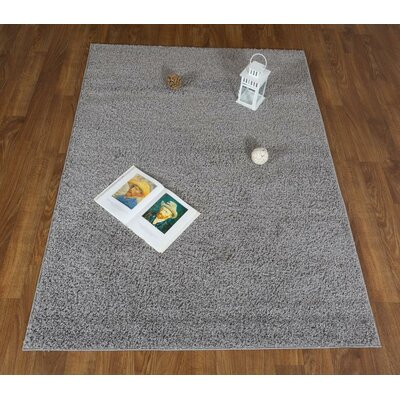 Washington Mews Shag Solid Gray Area Rug