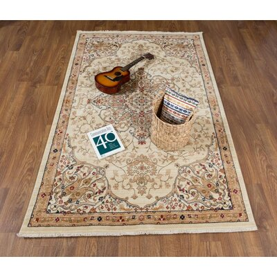 Seng Ivory Area Rug Rug Size: Rectangle 41 x 6