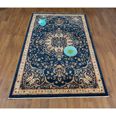 Seng Navy/Ivory Area Rug Rug Size: Rectangle 41 x 6