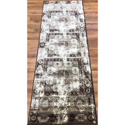 Senaida Brown/Beige Area Rug Rug Size: Runner 27 x 76