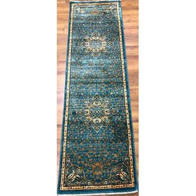 Seng Blue/Ivory Area Rug Rug Size: Runner 2 x 8