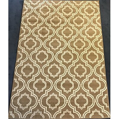Serita Trellis Beige/Cream Area Rug Rug Size: Rectangle 5 x 7