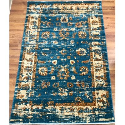 Dundonald Blue Area Rug Rug Size: Rectangle 5 x 8