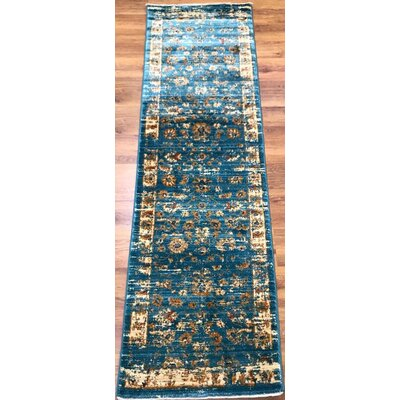 Dundonald Blue Area Rug Rug Size: Runner 2 x 8