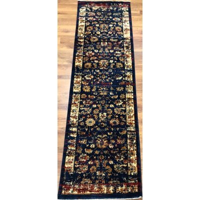 Dundonald Navy/Ivory Area Rug Rug Size: Runner 2 x 8
