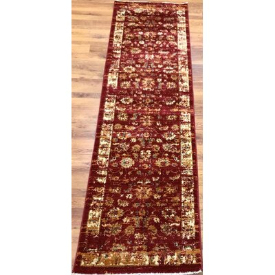 Dundonald Red/Ivory Area Rug Rug Size: Runner 2 x 8