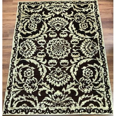 Dunlin Floral Beige/Brown Area Rug Rug Size: Rectangle 5 x 7