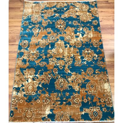 Serina Blue/Brown Area Rug Rug Size: Rectangle 5 x 8