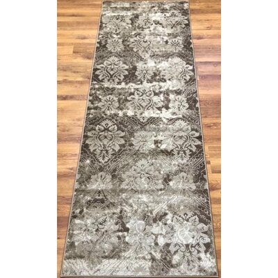 Brinkley Brown/Beige Area Rug Rug Size: Runner 27 x 76
