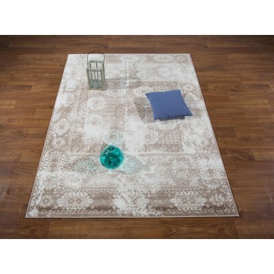 Senaida Brown/Cream Area Rug Rug Size: Rectangle 53 x 7
