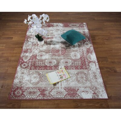 Senaida Pink/Cream Area Rug Rug Size: Rectangle 710 x 10