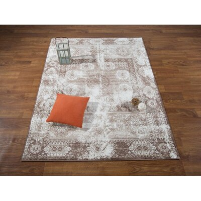 Senaida Cream Area Rug Rug Size: Rectangle 53 x 7
