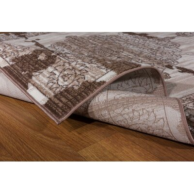 Senaida Cream/Brown Area Rug Rug Size: Runner 27 x 76