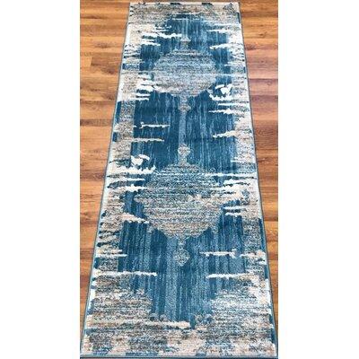 Senaida Blue/Beige Area Rug Rug Size: Runner 27 x 76