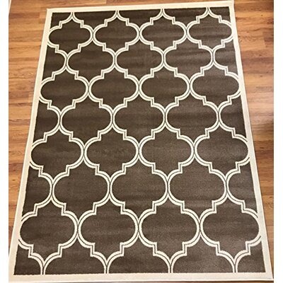Hamlet Trellis Brown/Beige Area Rug Rug Size: Rectangle 53 x 7