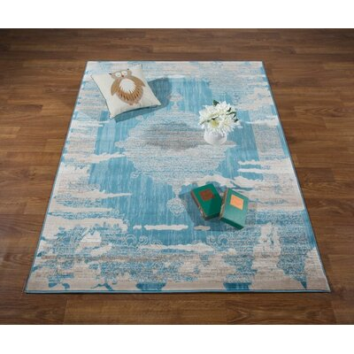 Senaida Blue/Beige Area Rug Rug Size: Rectangle 710 x 10