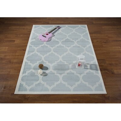 Hamlet Trellis Light Blue/Cream Area Rug Rug Size: Rectangle 53 x 7
