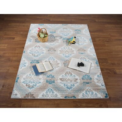 Senaida Blue Area Rug Rug Size: Rectangle 53 x 7