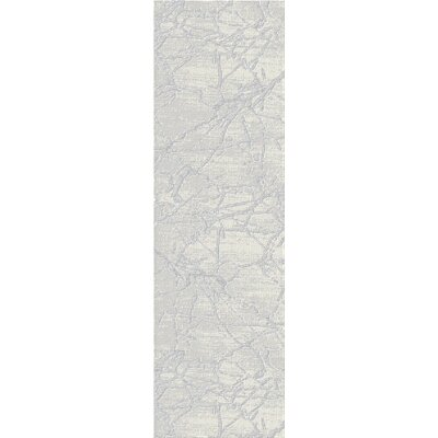 Crider White/Gray Area Rug Rug Size: Runner 23 x 72