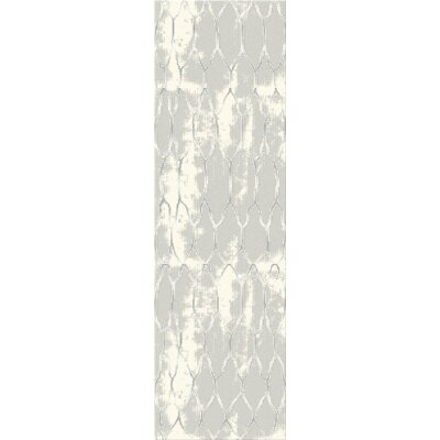 Acuna Gray Area Rug Rug Size: Runner 23 x 72