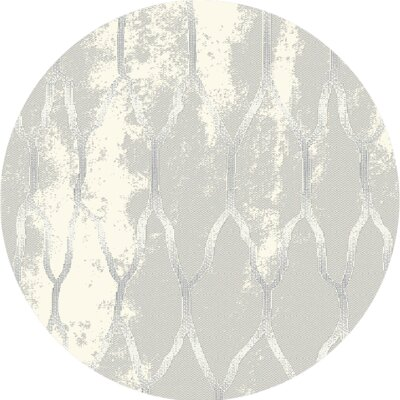 Acuna Gray Area Rug Rug Size: Round 52