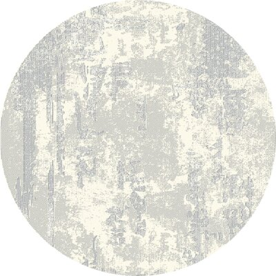 Crider Gray Area Rug Rug Size: Round 5'2