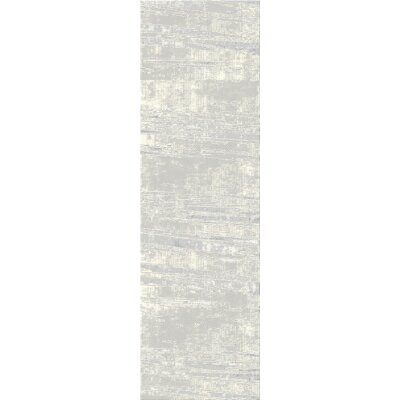 Crider Gray Area Rug Rug Size: Rectangle 3'9