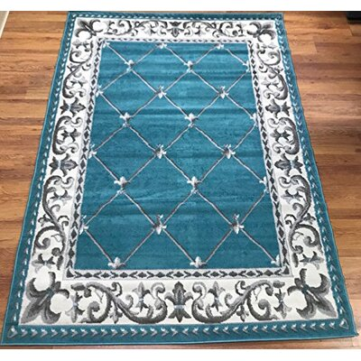 Jasonville Blue Area Rug Rug Size: Rectangle 5 x 7