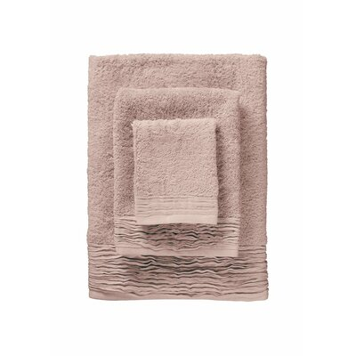 Hollins Pleated 12 Piece Towel Set Color: Rose