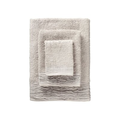 Holloway Pleated 6 Piece Towel Set Color: Ivory