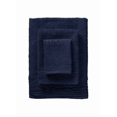 Hollins Pleated 12 Piece Towel Set Color: Marine Blue