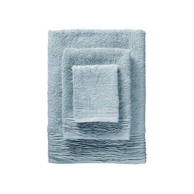 Holloway Pleated 6 Piece Towel Set Color: Light Blue