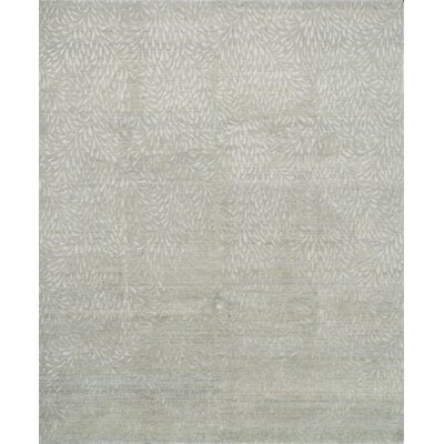 Bandhe Hand-Knotted Mist/Pewter Area Rug Rug Size: Rectangle 56 x 86
