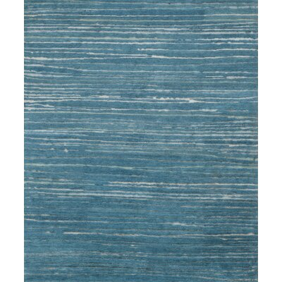 Edward Hand-Knotted Ocean Area Rug Rug Size: Rectangle 79 x 99