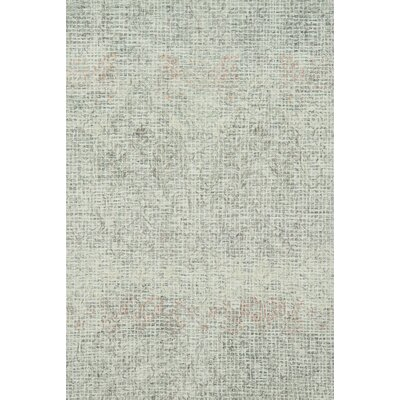 Zeinab Hand Hooked Wool Gray/Blush Area Rug Rug Size: Rectangle 36 x 56
