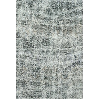 Zeinab Hand Hooked Wool Ink/Blue Area Rug Rug Size: Rectangle 36 x 56