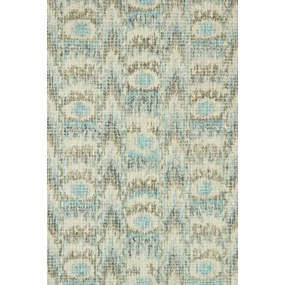 Zeinab Hand Hooked Wool Blue/Turquoise Area Rug Rug Size: Rectangle 36 x 56