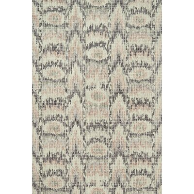 Zeinab Hand Hooked Wool Blush/Rasin Area Rug Rug Size: Rectangle 36 x 56