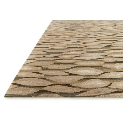 Ebrahimpour Hand-Knotted Tobacco Area Rug Rug Size: Rectangle 56 x 86