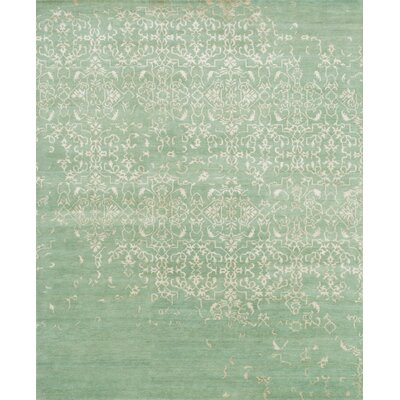 Vanita Hand-Knotted Aquamarine Area Rug Rug Size: Rectangle 79 x 99