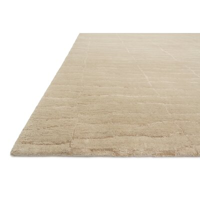 Albinson Hand-Knotted Almond Area Rug Rug Size: Rectangle 2 x 3