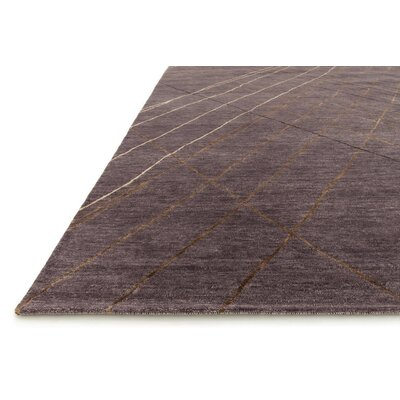 Shofner Hand-Knotted Plum Area Rug Rug Size: Rectangle 79 x 99