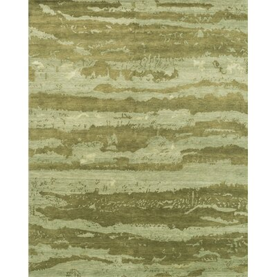 Shaunda Hand-Knotted Sea Foam Green Area Rug Rug Size: Rectangle 2 x 3