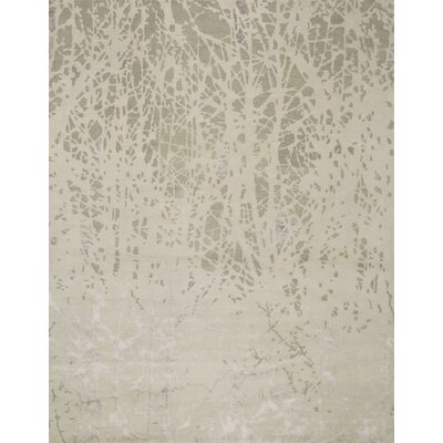 Pickrell Hand-Knotted Metal Area Rug Rug Size: Rectangle 79 x 99