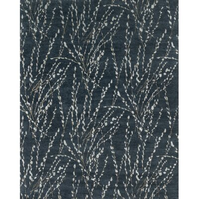 Bandhe Hand-Knotted Midnight Area Rug Rug Size: Rectangle 56 x 86