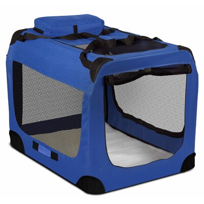 Soft-Sided Pet Carrier Size: 28 H x 27 W x 40 D, Color: Blue