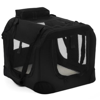 Soft-Sided Pet Carrier Size: 28 H x 27 W x 40 D, Color: Black
