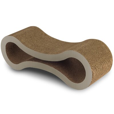 Cat Lounger and Scratching Board Size: 10.75 H x 10 W x 32 D, Color: Beige
