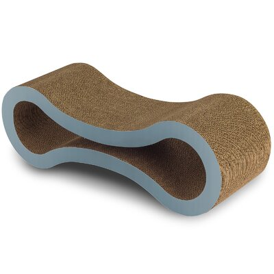 Cat Lounger and Scratching Board Size: 10.75 H x 10.5 W x 32 D, Color: Blue